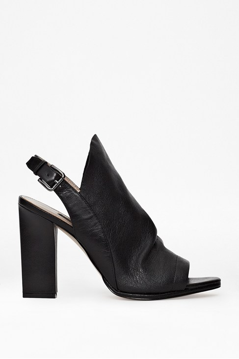 Ivy Leather Peep-Toe Heels - Heels - French Connection