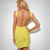 Yellow Halter Bandage Dress H612$99