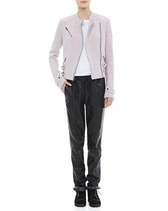 A.L.C. Malto Cotton Jacket, Cotton Muscle Tank & Tony Drawstring Leather Pants - Neiman Marcus