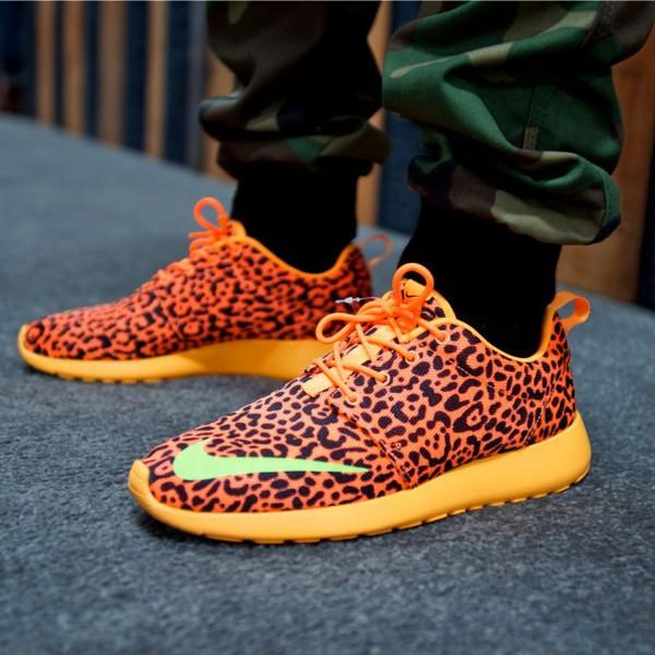 shoes nike roshe runs nike leopard shoes yellow