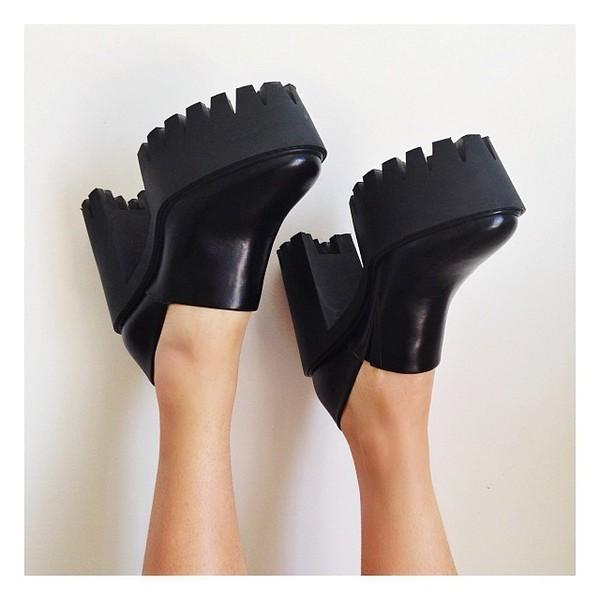 shoes black heels platform shoes