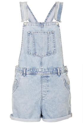MOTO Short Denim Dungarees - Playsuits & Jumpsuits  - Clothing  - Topshop