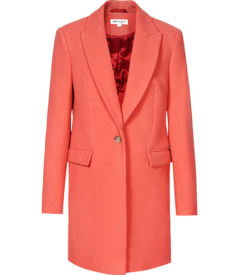 Soul Coral Straight Cut Coat - REISS