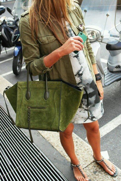 bag emerald green handbag