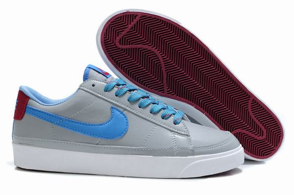 Nike Blazers Low Mens Sneakers ND 09 Leather Grey Blue