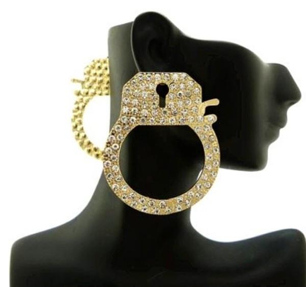 jewels handcuffs earrings