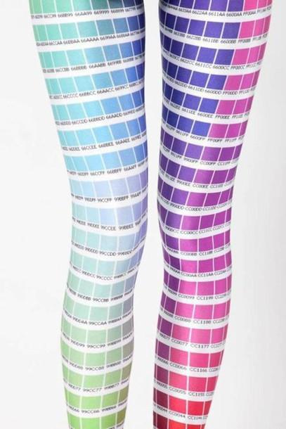 pants, different color, blue, pink, leggings, purple, pantone ...