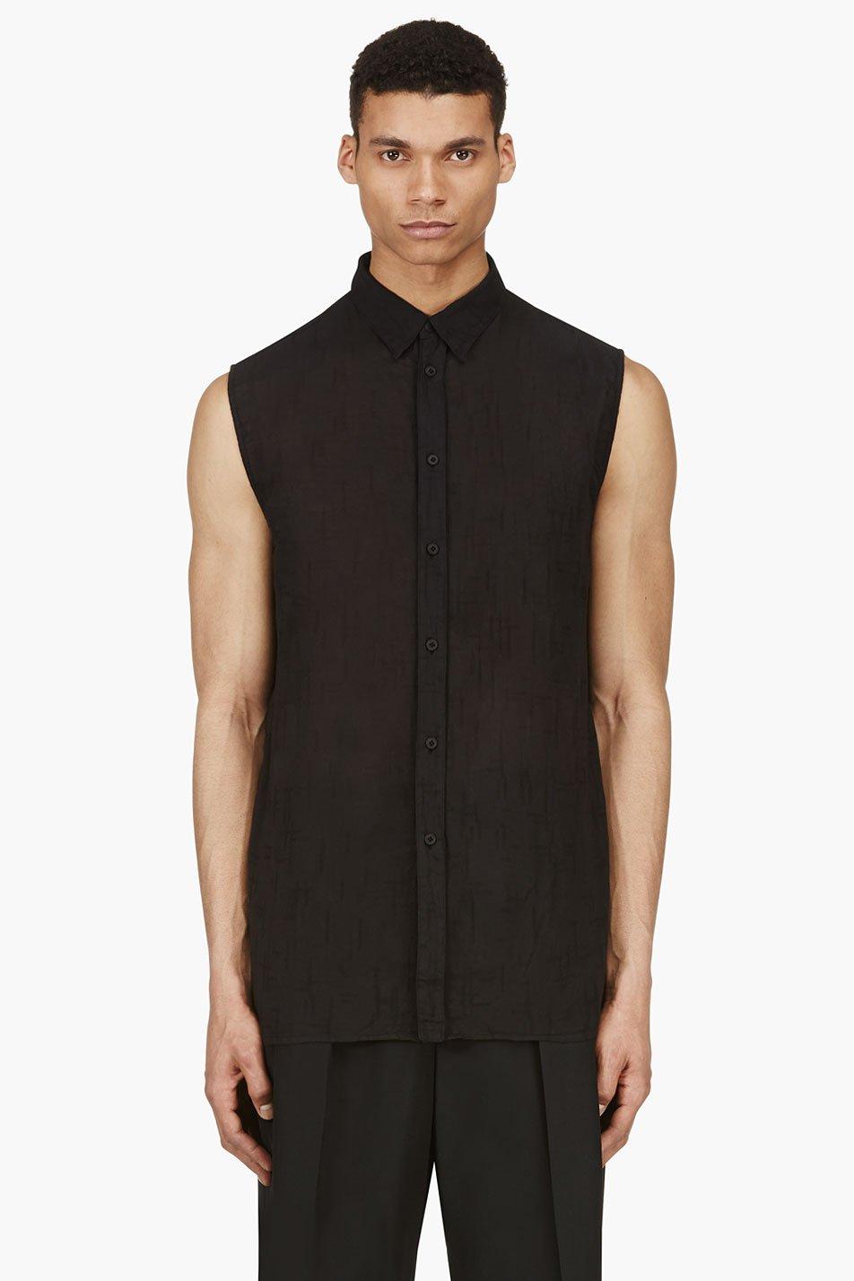 alexandre plokhov black slub sleeveless blouse