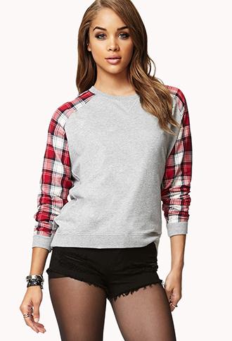Fresh Plaid Sweatshirt | FOREVER 21 - 2073080772