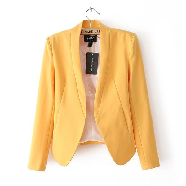 jacket blazer women's clothing women's jackets candy colours