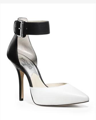 MICHAEL Michael Kors  Brinkley Two-Tone Ankle-Strap Pump - Michael Kors