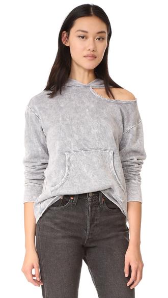 sweater frashion clothes lna cueva hoodie neckline hard-worn look top shopbop fashion