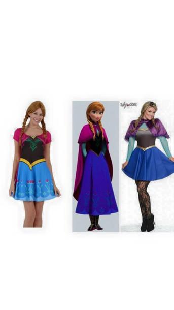 dress costume frozen anna elsa cosplay