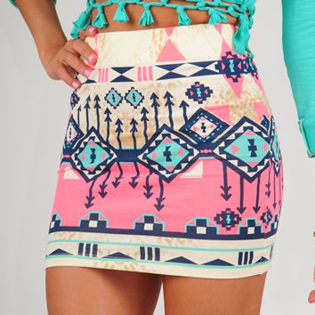 Surefire Feeling Skirt: Multi on Wanelo