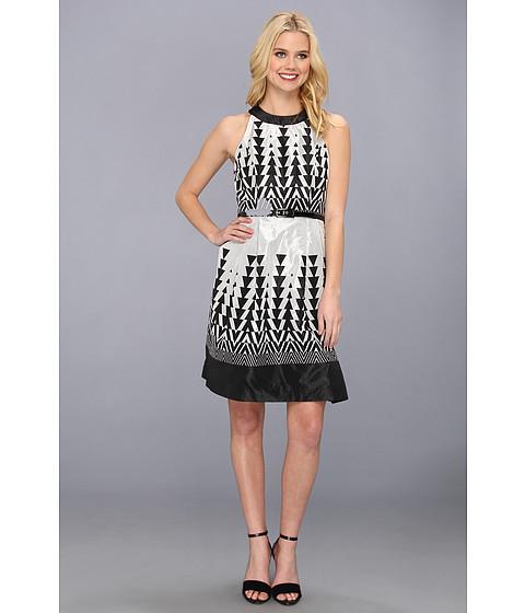 Muse Cut Out Back Girly Taffeta Dress Black/Silver - Zappos.com Free Shipping BOTH Ways