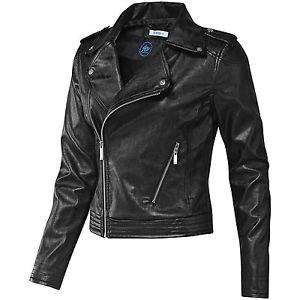 New Womens/Ladies adidas Originals Faux Black Leather Jacket UK 8,10 W64671   eBay