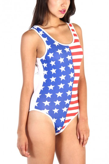 LoveMelrose.com From Harry & Molly | American flag bodysuit - multi