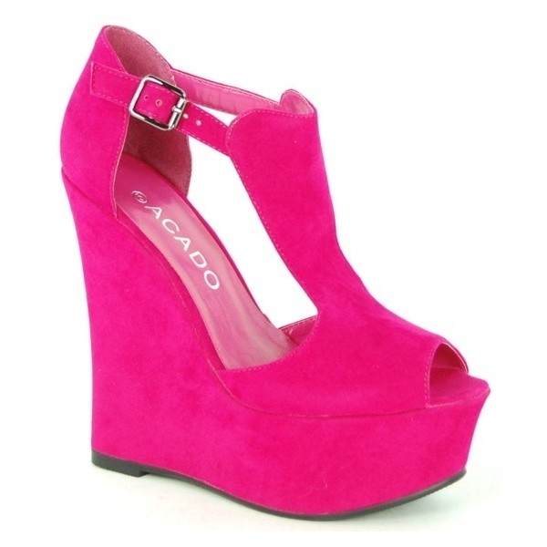 Shoes I love / Wildly Hot Pink Acado platform wedges! Oh yes! - Polyvore