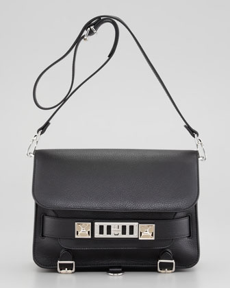 Proenza Schouler PS11 Classic Shoulder Bag, Black - Neiman Marcus