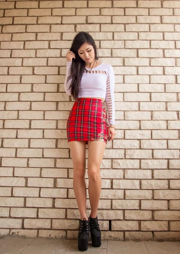 metallic paws t-shirt skirt shoes