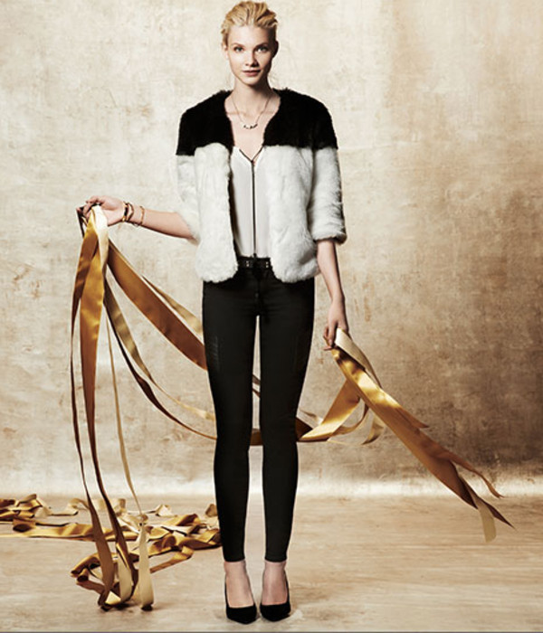 coat fashion lookbook club monaco blouse