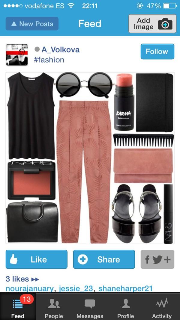 sunglasses black round pastel