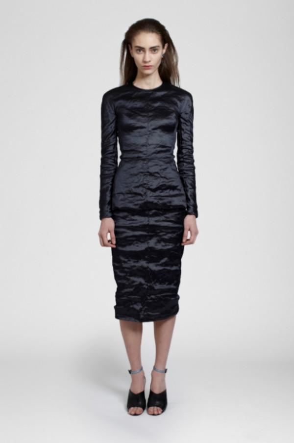 skirt lookbook fashion carven t-shirt
