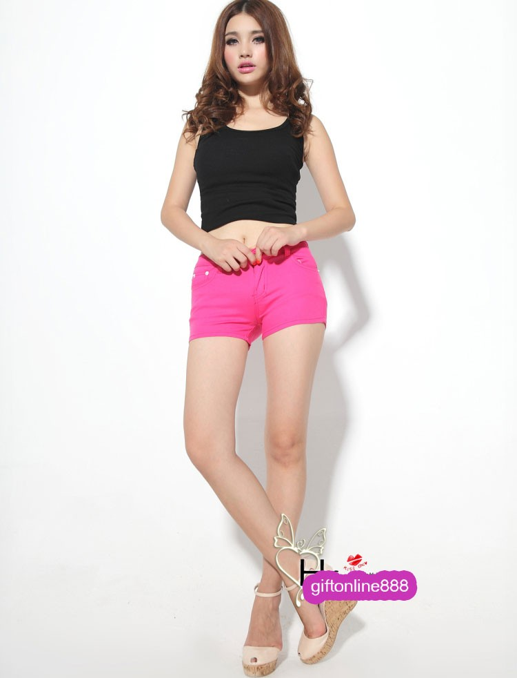 Summer Women's Denim Colored Candy Pants Shorts 835 | eBay