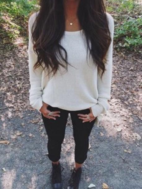 sweater girls sweater white white sweater