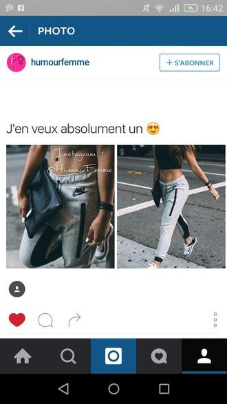 pants nike gris grey grey nike jogging nike jogging black noir