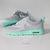 Nike Air Max Thea shoes w/Swarovski Crystals detail - gray - tiffany mint on Wanelo