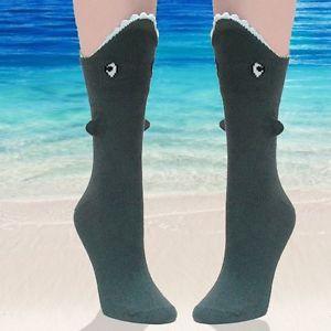 Shark Socks 3D Novelty Womens Shark Bite Sock 1 Pair by Foot Traffic | eBay