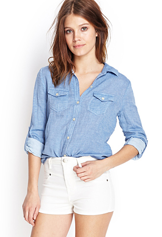 Soft Woven Button-Up Shirt | FOREVER21 - 2000060625