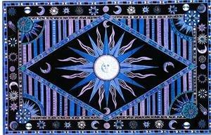 Amazon.com - Cotton Day Light Sun Print Tapestry