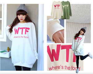 Cute Sweatshirt Graphic Sweater Print Jacket Tshirt Korean Fashion Hat KPOP WTF   eBay
