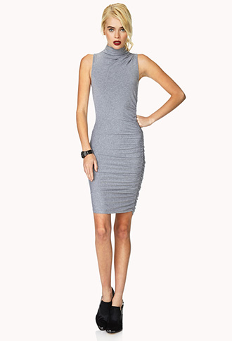 Daring Ruched Bodycon Dress | FOREVER21 - 2000072113