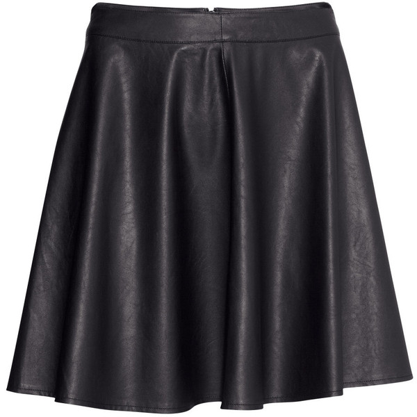 H&M Imitation leather skirt - Polyvore