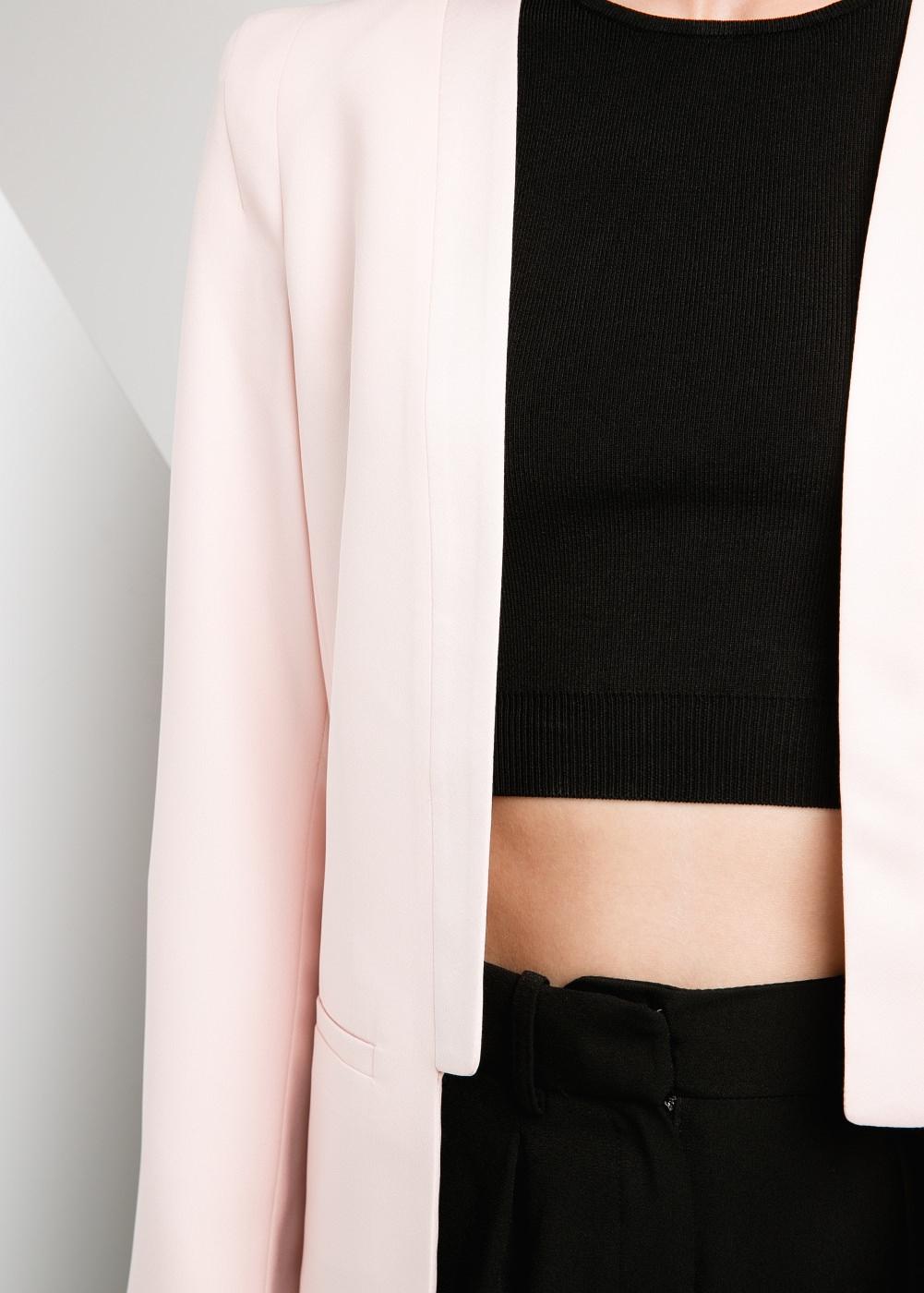 Satin edge blazer -  Jackets - Women - MANGO