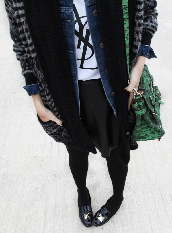 my daily style t-shirt jacket skirt belt bag shoes