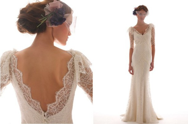 dress historical romantic bridal gown vintage lace dress white dress wedding clothes wedding dress hipster wedding
