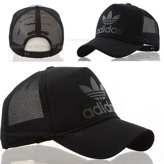 hat cap adidas trucker black adidas originals original fashion black cap trucker hat trucker cap baseball cap all black everything sportswear sports cap winter outfits summer ladies girl cute fashionchick