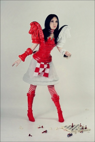cosplay alice madness returns alice cosplay dress boots cosplay boots stripes