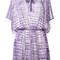 Missoni pleated trim beach dress, women's, size: 40, pink/purple, rayon