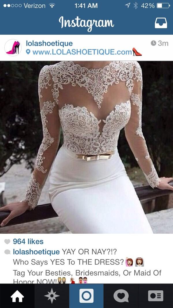 dress wedding dress sheer appliques