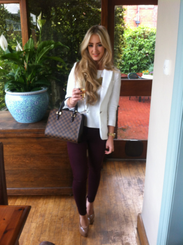 jacket white blazer jeans blouse
