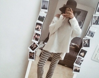 sweater white loose fit sweater off the shoulder sweater white sweater white shirt shirt blouse oversized sweater long sleeves