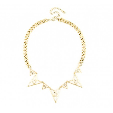 Sole Society - Triangular Cutout Necklace - Gold