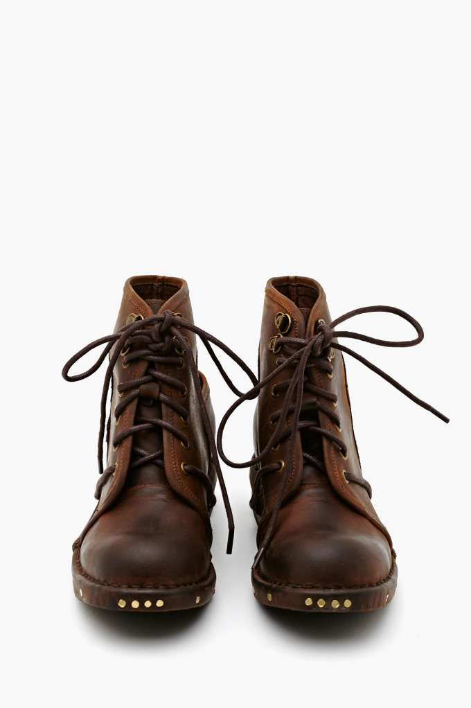 Jeffrey Campbell Rosie Cutout Combat Boot - Brown | Shop Our Most-Loved Stuff at Nasty Gal