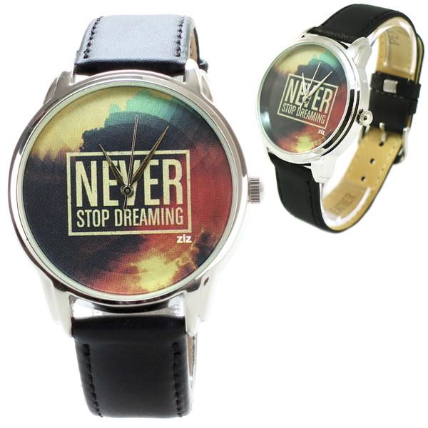 jewels watch watch never stop dreaming dream leather watch unusual watch unique watch designer watch inspiring watch ziz watch ziziztime