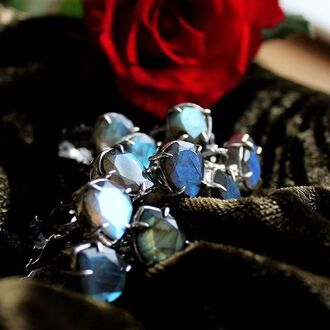 jewels shop dixi labradorite sterling silver ring grunge goth